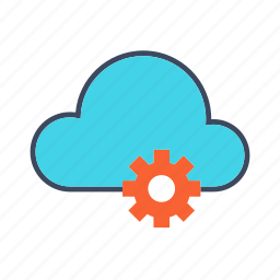cloud computing, configurations, data sharing, network, settings icon
