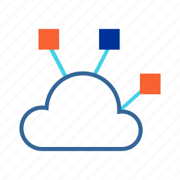 cloud computing, data sharing, network, nodes, sharing icon