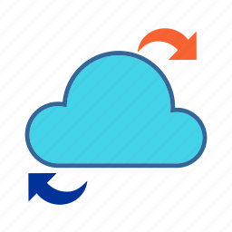 cloud, cloud computing, data access, data share, network icon