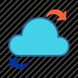 cloud, cloud computing, data access, data share, network icon