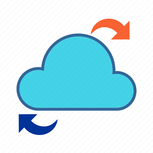 Cloud, cloud computing, data access, data share, network icon - Download on Iconfinder