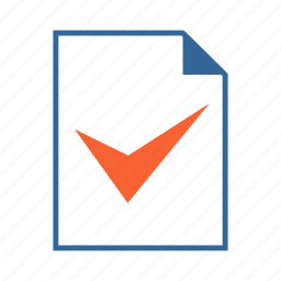 check, checked, document, done, tickmark, valid, yes icon