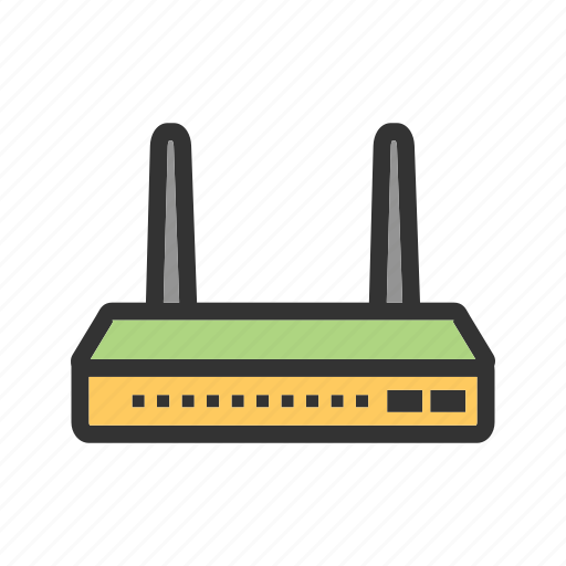 internet, modem, router, signals, wi-fi, wifi, wireless icon