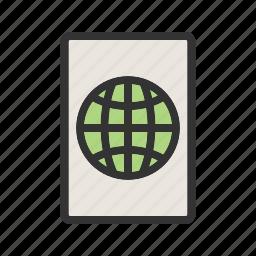 analysis, business, data, global, globe, report, world icon