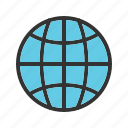 earth, globe, maps, ocean, planet, sphere, world icon