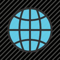 earth, globe, maps, ocean, planet, sphere, world icon