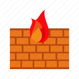 computer, firewall, internet, networking, protection, security, technology icon