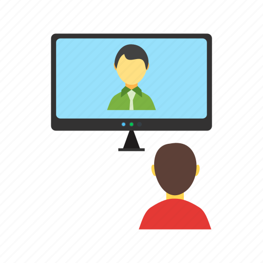 Business, call, chat, conference, online, people, video icon - Download on Iconfinder