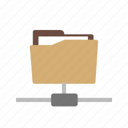 computer, connection, database, folder, information, network, technology icon