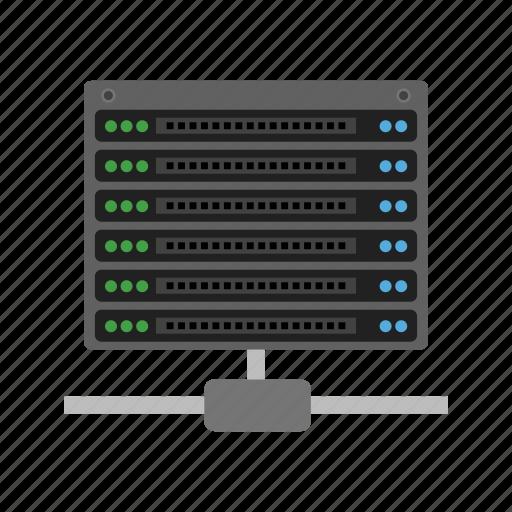 center, data, hosting, network, server, sharing, web icon
