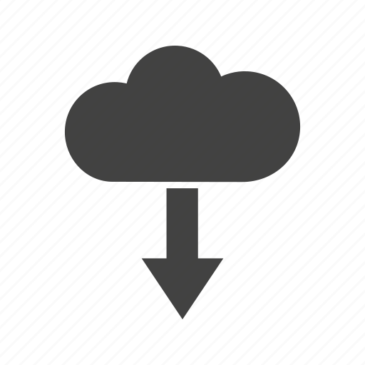 cloud, computing, data, download, internet, security, storage icon