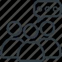 community, discussion, group, public, team icon