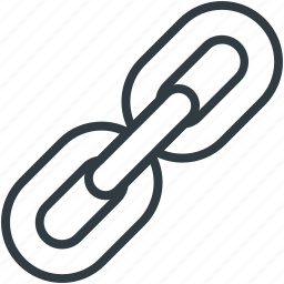 chain link, connection, hyperlink, link, web seo icon