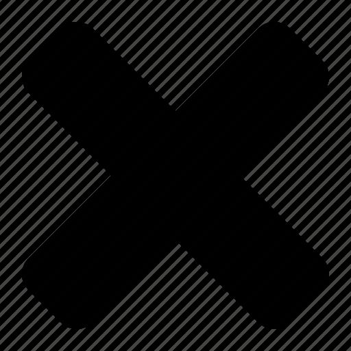 cancel, close, delete, dismiss, no, remove icon