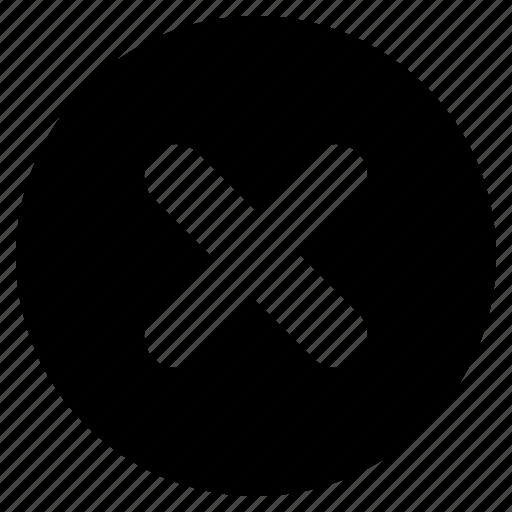 cancel, circle, close, delete, dismiss, no, remove icon