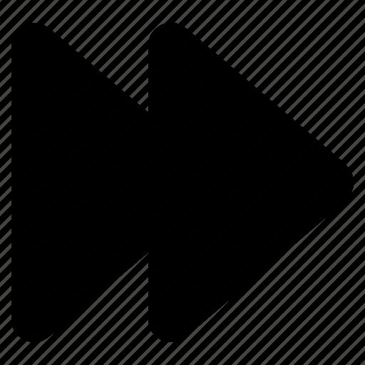 arrow, control, fast forward, forward, media, next, player icon