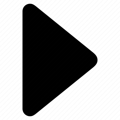 arrow, direction, forward, right, triangle icon