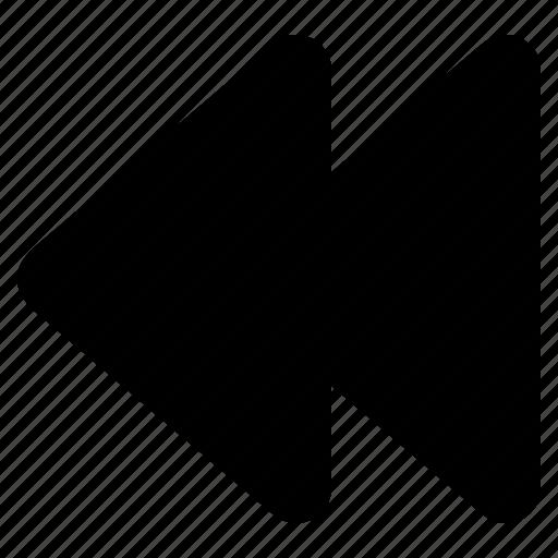 arrow, back, control, media, player, previous, rewind icon