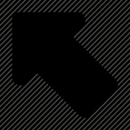 arrow, left, up, upper left icon