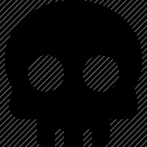 danger, dead, death, skeleton, skull, terminal illness, warning icon