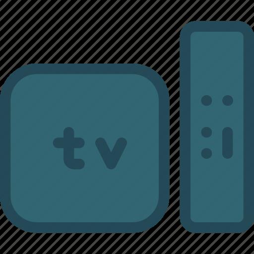 and, apple, control, remote, smart tv, television, tv icon