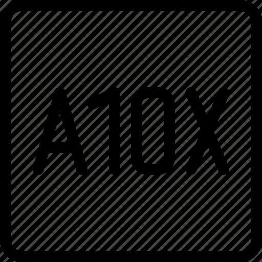 a10x, chip, computer, cpu, microchip, processor icon