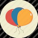 ballons, birthday, party icon icon