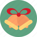 bell, bells, christmas, christmas bells icon icon