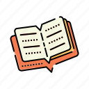 book, books, open, open book icon, study, reading