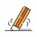 eraser, education, learn, student, study icon