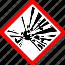 danger, explosive, hazard, safety, warning