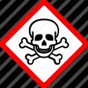 corrosive, crossbones, danger, hazard, safety, skulls, toxic