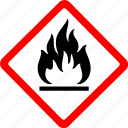danger, fire, flame, flammable, gas, hazard, safety icon