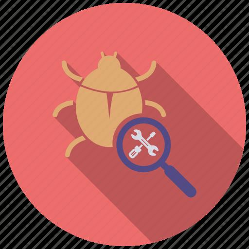 bug, fixing, mobile marketing, seo icons, seo pack, seo services, web design icon
