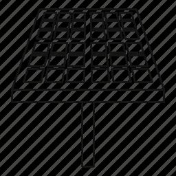 background, energy, outline, panel, power, solar, white icon