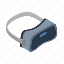 entertainment, game, gaming, isometric, reality, virtual, vr icon