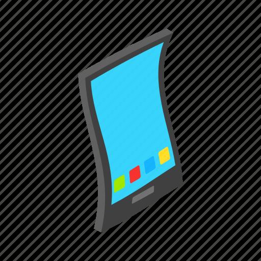 communication, digital, isometric, modern, phone, smartphone, touch icon