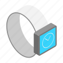 isometric, monitor, screen, smart, technology, watch, wristwatch icon