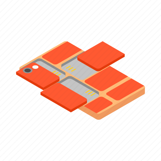 cellphone, isometric, mobile, module, phone, smartphone, touch icon