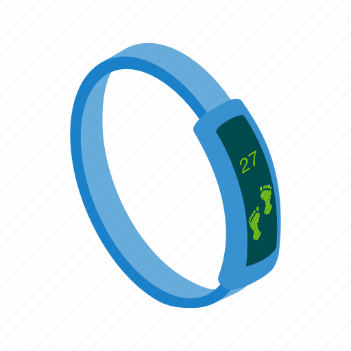 calories, device, gadget, isometric, pedometer, wearable, wrist icon