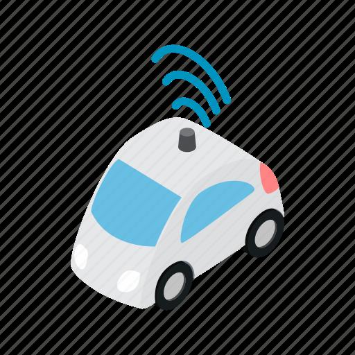 car, internet, isometric, sign, transport, vehicle, wifi icon