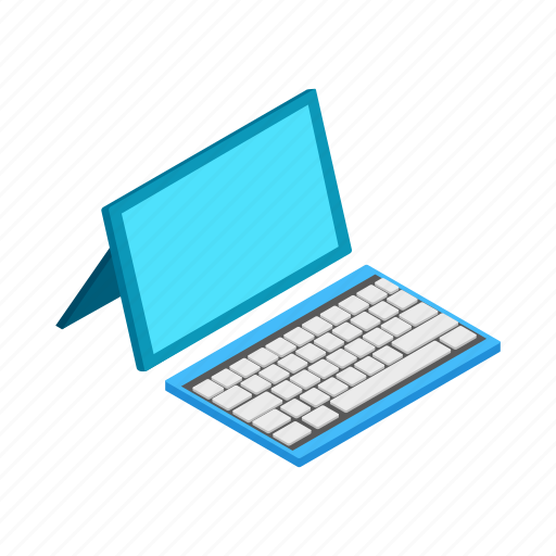business, computer, desktop, isometric, keyboard, monitor, technology icon