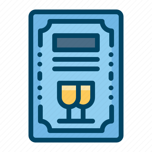 alcohol, card, drink, invitation, party icon