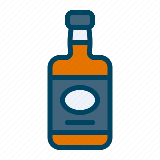 alcohol, bottle, drink, whiskey icon