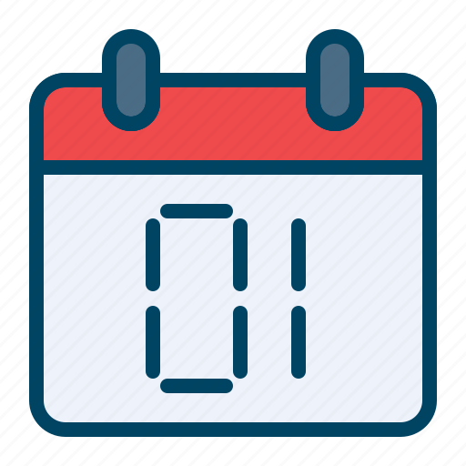 calendar celebration day first new year icon