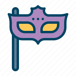 carnival, celebration, code, dress, mask, new-year, party icon