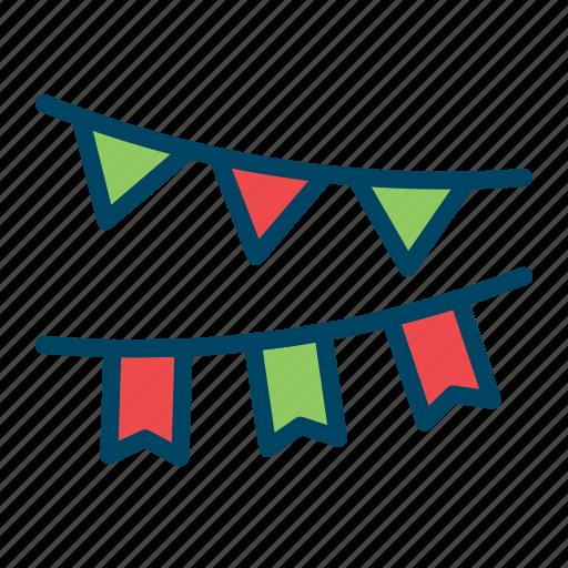 celebration, dcoration, festoon, newyear, paper icon