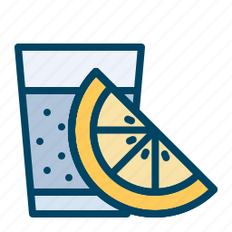 drink, glass, lemon, shots, tequila icon