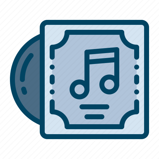 cd, cover, disc, music, song icon