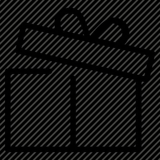 box, christmas, gift, holiday, new, ribbon, year icon